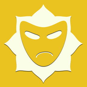 Icon Graphic - #SimpleIcon #IconElement #florets #bracket #inset #interface #theater #masks #ragged #rounded
