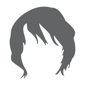 Icon Graphic - #SimpleIcon #IconElement #hair #black #human #short #shapes