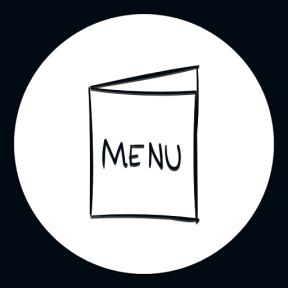 Icon Graphic - #SimpleIcon #IconElement #menus #food #circles #shapes #black #circular #drum