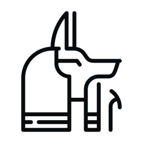 Icon Graphic - #SimpleIcon #IconElement #mythology #shapes #god #religion #egyptian #egypt