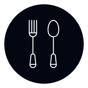 Icon Graphic - #SimpleIcon #IconElement #shape #geometric #shapes #cutlery #circle #forks #restaurant #pack #geometrical #black