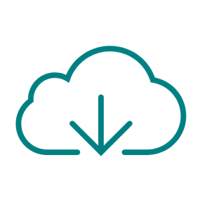 Icon Graphic - #SimpleIcon #IconElement #storage #cloud #downloading #data #arrows #file #computing #device