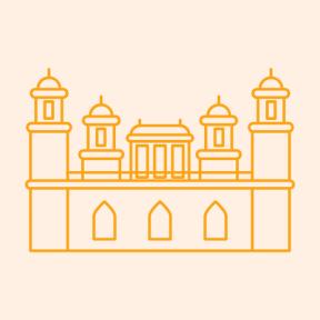 Icon Graphic - #SimpleIcon #IconElement #tomb #india #monuments #agra #monument