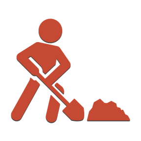 Icon Graphic - #SimpleIcon #IconElement #worker #digging #dig #people #shovel