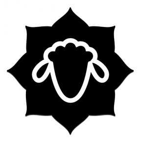Icon Graphic - #SimpleIcon #IconElement #and #ribbon #frame #inset #sheep #label #rounded #wool #florets