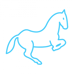 Icon Graphic - #SimpleIcon #IconElement #animal #animals #horse #outline #jumping #white #view #jump #horses