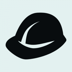Icon Graphic - #SimpleIcon #IconElement #buildings #head #job #worker #protected #gear #work