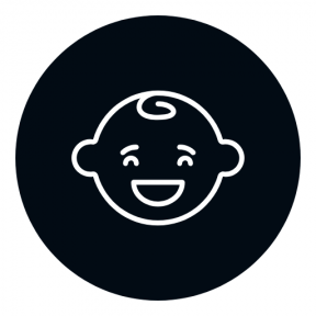 Icon Graphic - #SimpleIcon #IconElement #child #shape #circle #people #black