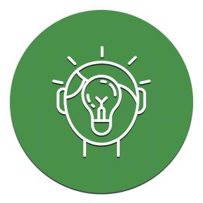 Icon Graphic - #SimpleIcon #IconElement #circular #light #people #circles #black #shape #illumination #circle #top #bulb