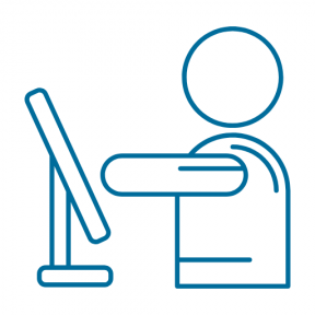 Icon Graphic - #SimpleIcon #IconElement #computer #office #computing #men #man #stick #monitor #people
