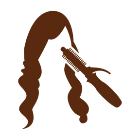 Icon Graphic - #SimpleIcon #IconElement #curler #hair #female #Tools #salon #hairs #tool #long #and #tools