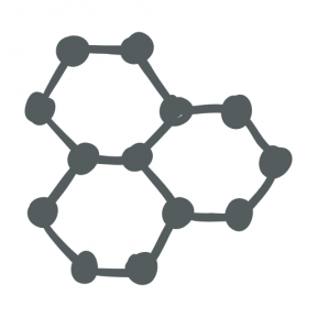 Icon Graphic - #SimpleIcon #IconElement #education #three #molecule #hexagon #molecules