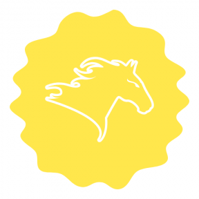 Icon Graphic - #SimpleIcon #IconElement #grungy #swirly #horse #scalloped #ovals #horses