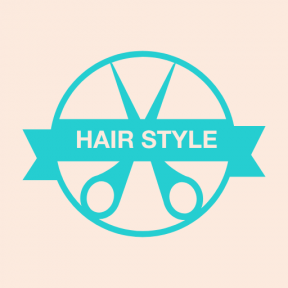 Icon Graphic - #SimpleIcon #IconElement #hairstyle #style #hair #salon #circle #commerce #scissors