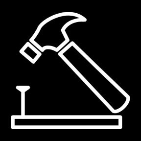 Icon Graphic - #SimpleIcon #IconElement #hammer #work #nail #wood #and #utensils #tool