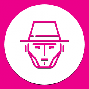 Icon Graphic - #SimpleIcon #IconElement #head #geometric #hat #black #shape #circle #shapes #bandit #essentials #avatar