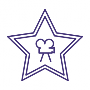 Icon Graphic - #SimpleIcon #IconElement #movies #filming #film #shapes #movie #stars