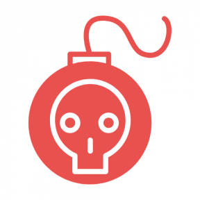 Icon Graphic - #SimpleIcon #IconElement #outline #bomb #bombs #skull #weapons
