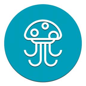 Icon Graphic - #SimpleIcon #IconElement #poison #shapes #jellyfishes #life #geometrical #shape #poisonous #circle #geometric #black