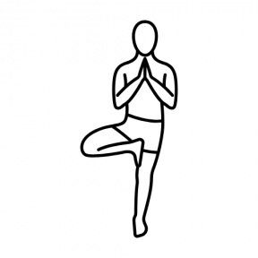 Icon Graphic - #SimpleIcon #IconElement #relaxing #excercising #calm #sport #sports #pilates #yoga