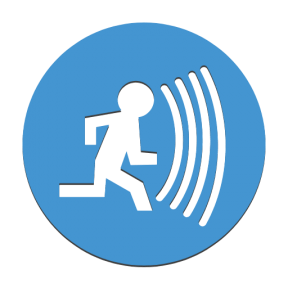 Icon Graphic - #SimpleIcon #IconElement #security #running #surveillance #people #system