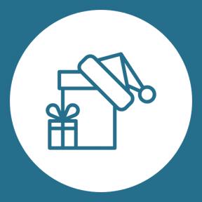 Icon Graphic - #SimpleIcon #IconElement #surprise #shape #cap #geometric #circular #essentials #present #xmas #giftboxes #shapes