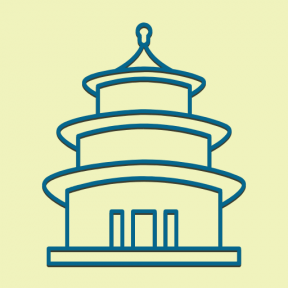 Icon Graphic - #SimpleIcon #IconElement #temple #beijing #china #heaven #monuments