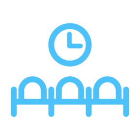 Icon Graphic - #SimpleIcon #IconElement #time #clock #seats #buildings #wait #chairs