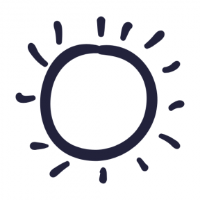 Icon Graphic - #SimpleIcon #IconElement #weather #sunny #day #sunlight #daylight #hand #beach #star #sun #drawn