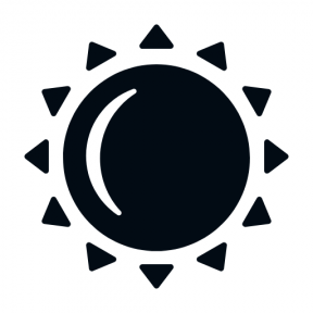Icon Graphic - #SimpleIcon #IconElement #weather #silhouette #sunny #rays #sunlight #sunshine #sunbeam