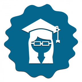 Icon Graphic - #SimpleIcon #IconElement #circles #cap #jagged #raggedborders #wavy #scalloped #student #frame