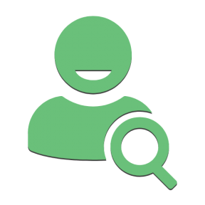 Icon Graphic - #SimpleIcon #IconElement #glass #search #user #searching #magnifying #symbol #users