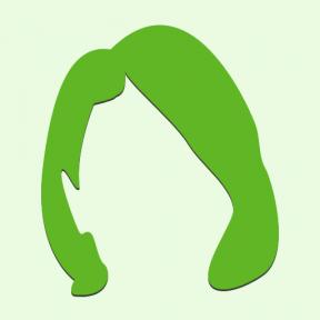 Icon Graphic - #SimpleIcon #IconElement #hair #salon #black #short #shape