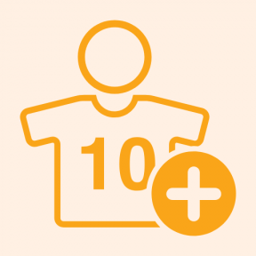Icon Graphic - #SimpleIcon #IconElement #jersey #sign #football #sports #plus