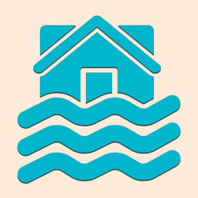 Icon Graphic - #SimpleIcon #IconElement #level #flooded #floods #house #sea
