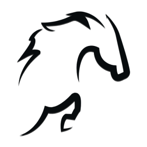 Icon Graphic - #SimpleIcon #IconElement #part #outline #view #horse #animal #jumping #horses #frontal #side