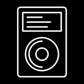 Icon Graphic - #SimpleIcon #IconElement #player #audio #portable #music #mp3 #digital #mp4