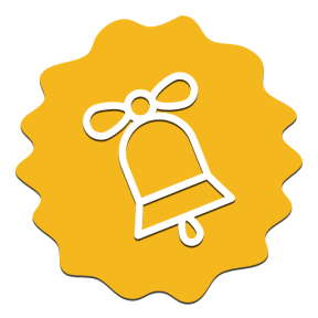 Icon Graphic - #SimpleIcon #IconElement #rectangles #bell #frame #rough #jagged #christmas #scalloped #edges #fancy