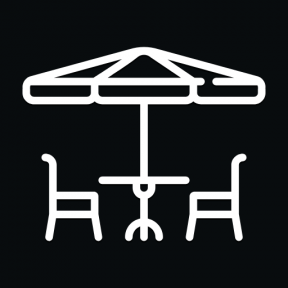 Icon Graphic - #SimpleIcon #IconElement #umbrella #sun #coffee #seat #shop #table #chairs