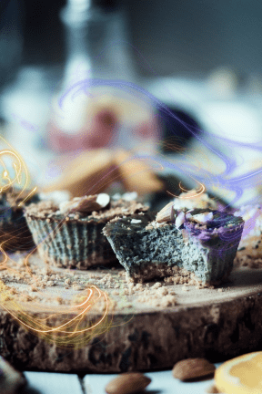 Photo Overlay Design - #PhotoOverlay #PhotoFilter #Photography #product #hand #joint #finger #board #organism #dessert #Bitten #muffins #surrounded