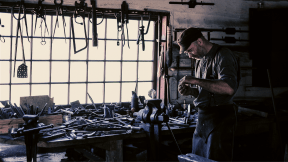 Photo Filter - #PhotoEffect #PhotoFilter #PhotographyFilter #A,middle-aged,man,working,near,a,workbench,with,various,tools,on,it,in,a,workshop