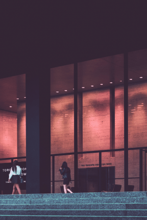 Photo Filter - #PhotoEffect #PhotoFilter #PhotographyFilter #center #facade #corporate #stairs #window #architecture #night #performing