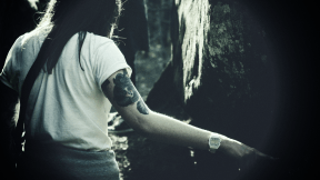 Photo Filter - #PhotoEffect #PhotoFilter #PhotographyFilter #Woman #tattoos #Dovbush #with #forest #water #various