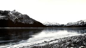 Photo Filter - #PhotoEffect #PhotoFilter #PhotographyFilter #An #lake #snowy #winter #sky #mountain #snow #glacial #gray #Canada