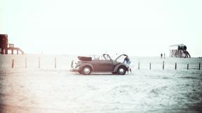 Photo Filter - #PhotoEffect #PhotoFilter #PhotographyFilter #Peter-Ording #transport #watching #of #dust #car #bonnet