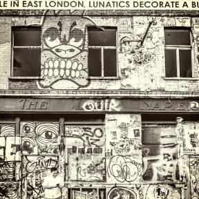 Photo Filter - #PhotoEffect #PhotoFilter #PhotographyFilter #building #Hackney #A #London #art #covered #mural