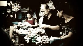 Photo Filter - #PhotoEffect #PhotoFilter #PhotographyFilter #Japanese #fish #take #market #Servers #seafood #behind #restaurant #food
