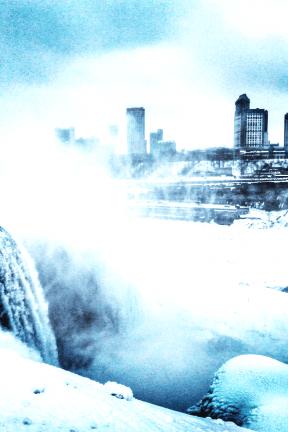 Photo Filter - #PhotoEffect #PhotoFilter #PhotographyFilter #Niagara #storm #facing #Snow #water #river #freezing #snow #resources