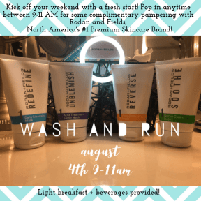 August wash and run