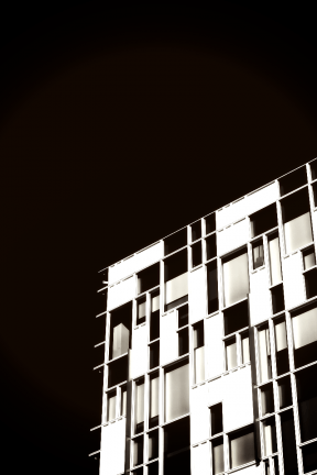 Photo Filter - #PhotoEffect #PhotoFilter #PhotographyFilter #daytime #and #monochrome #white #sky #A #rectangular #structure #windows
